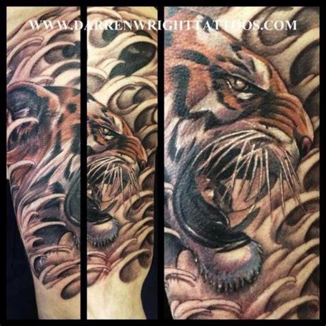 biomechanical tiger tattoo realistic tiger tattoo by darren wright tattoos