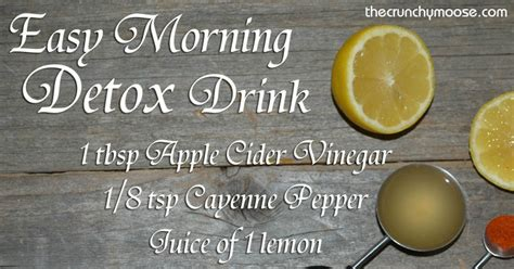 Morning Detox Tea Apple Cider Vinegar by Easy Morning Lemon Detox With Lemons Apple Cider Vinegar