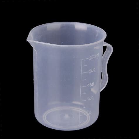 250 ml transparent plastic measuring cup with handle f6 ebay