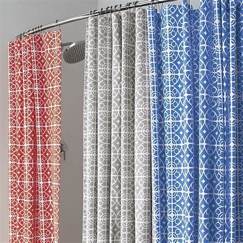 Coral And Gray Curtains Taza Grey Shower Curtain