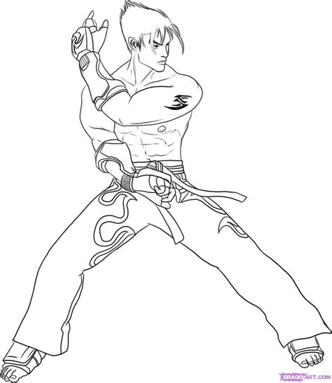 Tekken 7 Coloring Pages by Tekken Jin Coloring Pages Colouring Pages