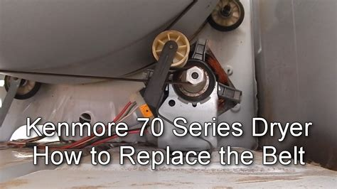how to replace belts youtube how to replace the belt on a kenmore 70 series dryer youtube