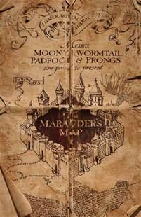Marauders Map Bedroom Wallpaper Harry Potter Marauder S Map Cover Poster From Hogwarts