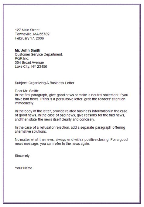 Block Style Business Letter In Word 8 Block Letter Format Exle Invoice Template