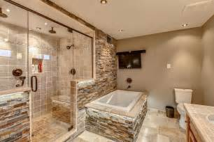 floor and decor az rustic master bathroom with raised panel limestone tile
