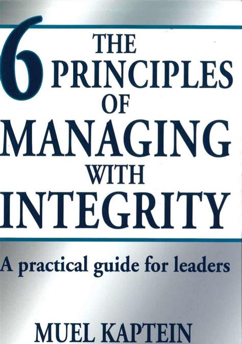 imperfect 10 a practical guide to transform your troubles into triumphs books free book the six principles managing with integrity a