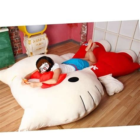 bed pillow chair kawaii bedrooms bedroom bed hello kitty chair pillows chairs beds hello kitty beds