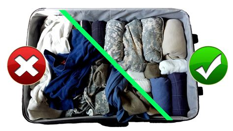 Tas Travel Fold Up army hack packing suitcase baggage like a pro for