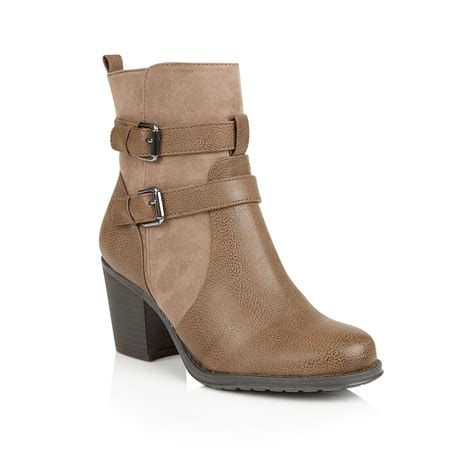 naturalizer transform ankle boots in brown lyst