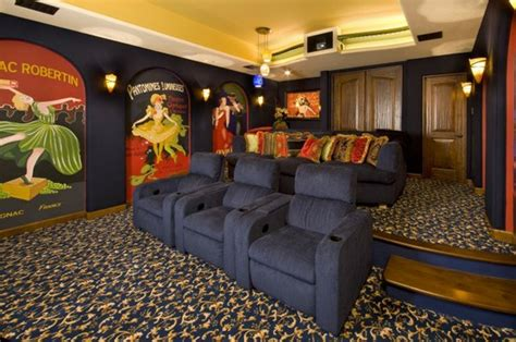 Media Room Carpet by Are You Ready For Some Football Media Rooms Home Theater Looks Interiors By Patti