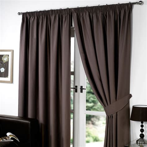 curtains blackout thermal pencil pleat blackout pair curtains ready made