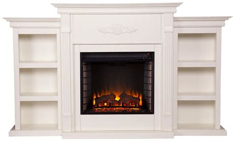 tennyson bookcase electric fireplace tennyson electric fireplace w bookcases best electric