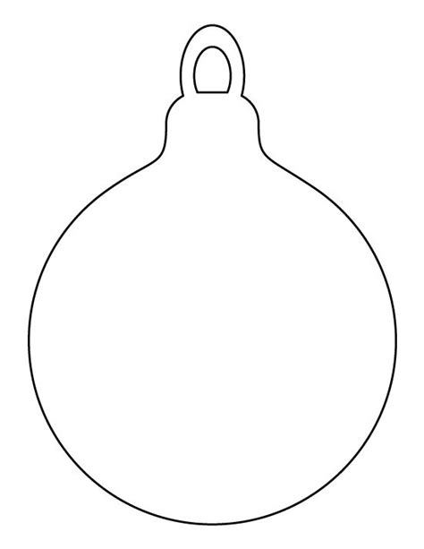 Printable Christmas Ornaments Templates Invitation Template Template Of Ornament