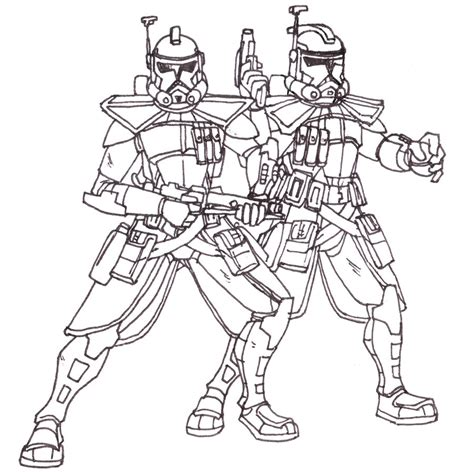 arc trooper coloring pages arc troopers echo and fives lineart by blayaden on deviantart