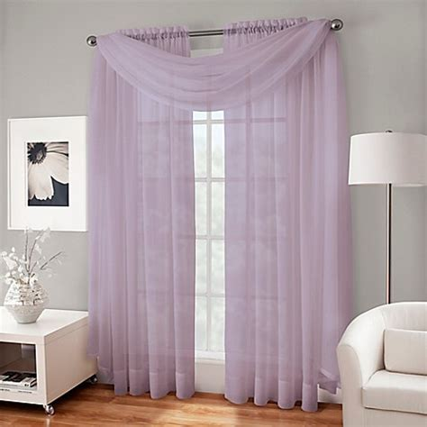 crushed voile sheer curtains crushed voile sheer window curtain panel bed bath beyond