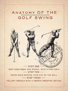 anatomy of golf swing anatomy of a golf swing metal sign og 4030