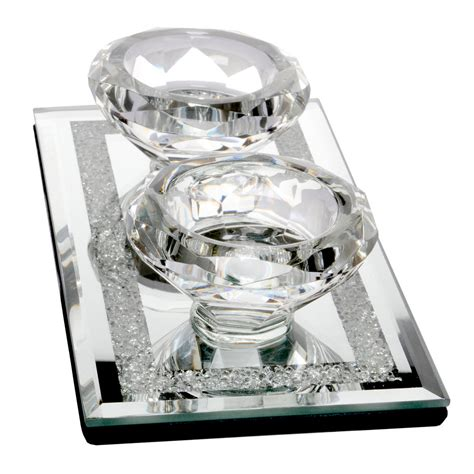 Glass Tealight Candle Holders In The Shape Of Candlesticks by Shape Tealight Candle Holder Glass Mirrored