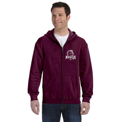St Maroon Evalia 50 st anthony knights youth 50 50 zippered hooded sweatshirt embroidered sta 18600b big
