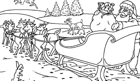 coloring pages reindeer and sleigh santa and reindeer coloring pages printable coloring home