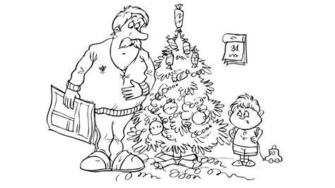dibujos de árboles de navidad para colorear dibujos navide 241 os para pintar o colorear ni 241 os decorando el 225 rbol