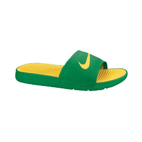 nike slides shoes nike benassi solarsoft slides in for lyst
