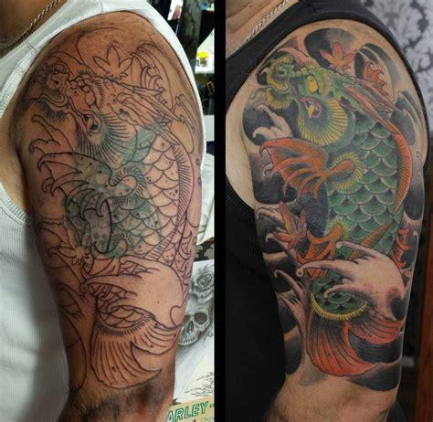 tattoo pez koi pierna 191 c 243 mo tapar un tatuaje te damos 23 ideas de como hacerlo