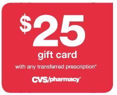 Transfer Prescription Gift Card - cvs gift card with transferred prescription