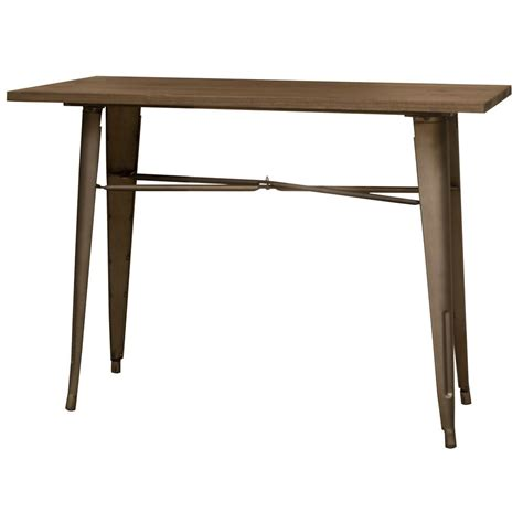 Brown Dining Table Home Decorators Collection Fields Weathered Brown Dining Table 9690500820 The Home Depot