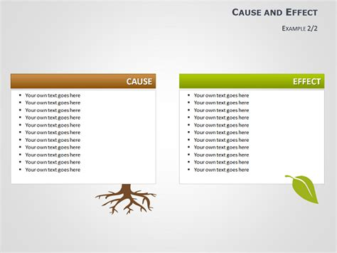 Cause And Effect Tree Diagrams For Powerpoint Cause And Effect Tree Diagram