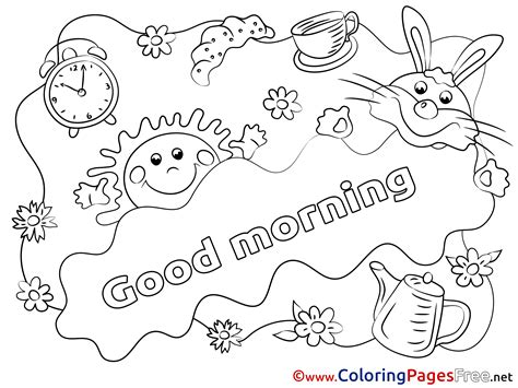 good sheets good morning coloring page sketch coloring page