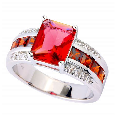 Ruby 7 65 Ct pav 233 2 75 ct ruby spinel garnet white sapphire sterling