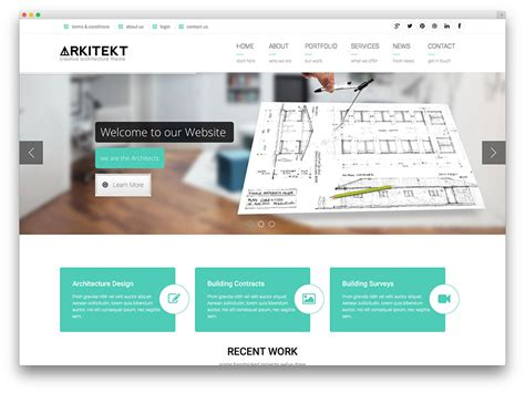 modern home design websites best wordpress themes for architects and architectural