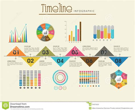 creative timeline infographic template layout stock