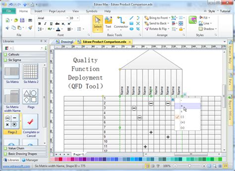 House Plan Symbols by Quality Function Deployment Qfd Tool