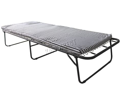 Metal Folding Bed Foxhunter Metal Single Folding Guest Visitor Compact Bed With Mattress Fold Away Ebay