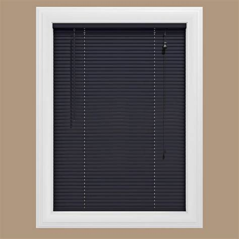 Black L Shades For Sale by Bali Cut To Size Black 1 In Blackout Vinyl Mini Blind