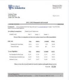 doc 550757 11 financial aid letter sample bizdoska com