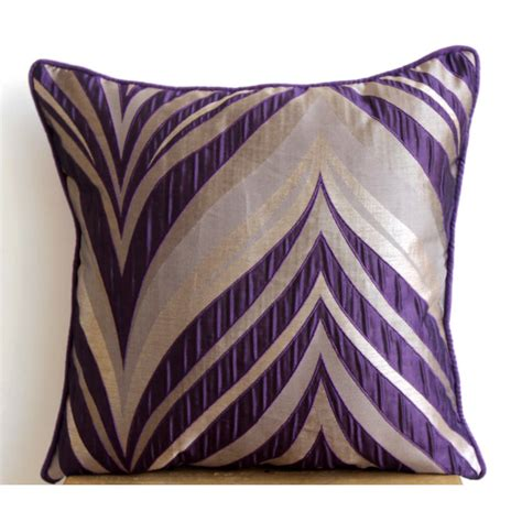 designer pillows designer purple pillow cases 16x16 jacquard