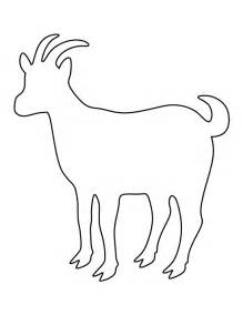 printable goat template