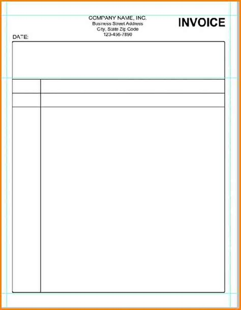 8 Billing Invoice Sles Blank Simple Bill Blank Bill Template