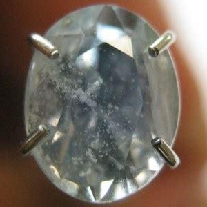 Promo Cincin Emas Putih Berlian 0 29 Carat 1 batu permata sapphire biru muda cantik 1 44 carat