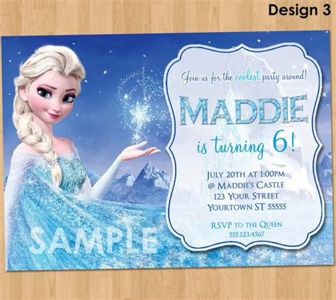 printable frozen invitations frozen birthday invitation elsa frozen invitation