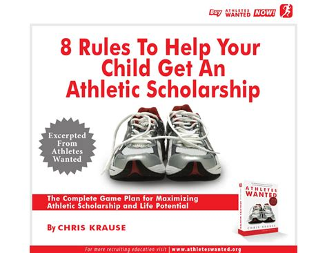 the athletic scholarship playbook a complete college recruiting roadmap for high school athletes and parents books 8 to help your child get an athletic scholarship by