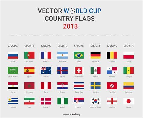 world cup 2018 world cup soccer stage country flags 2018 vector