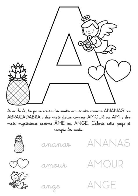 Coloriage à imprimer : Alphabet Lettre A