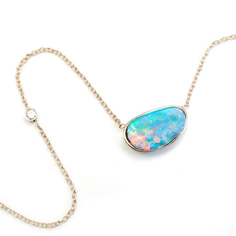 blue opal necklace opal necklace opal necklace blue opal necklace