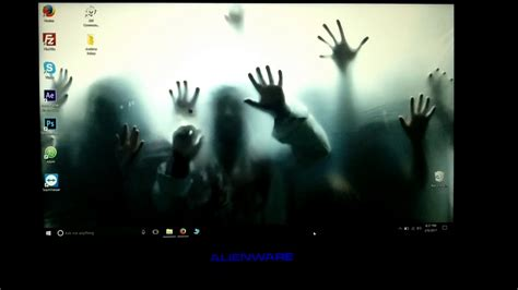 wallpaper engine windows 10 zombie invasion live wallpaper engine alienware youtube