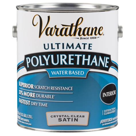 1 gal clear satin water based polyurethane for floors varathane 1 gal clear satin water based interior