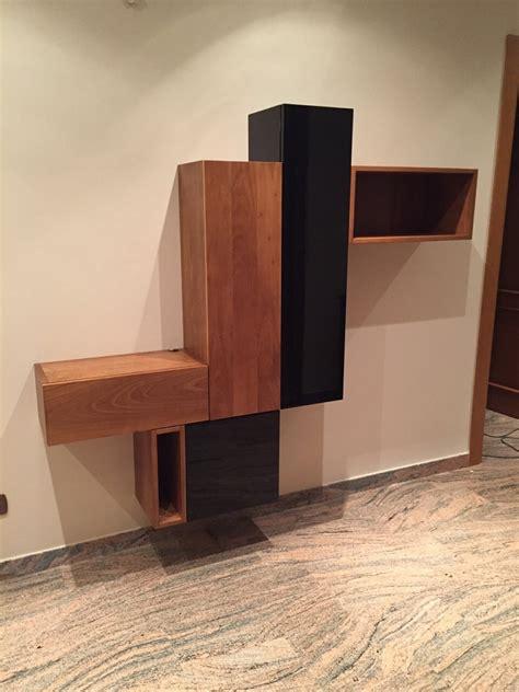 valente mobili mobile da ingresso in noce e laccato nero lucido rif