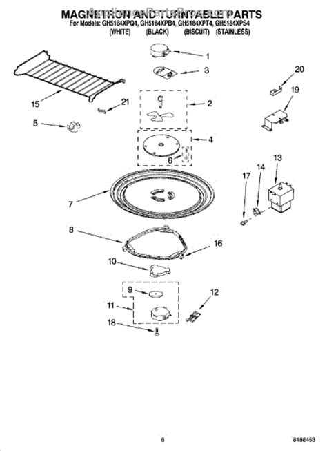 whirlpool microwave parts diagram whirlpool 4393799 cooking tray appliancepartspros